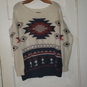 American Eagle Outfitters Aztec Sweater XL